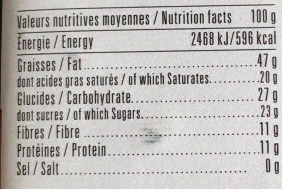 Chocolat Noir 69% noisettes entières - Informations nutritionnelles - fr