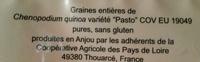 quinoa d'Anjou - Ingrédients