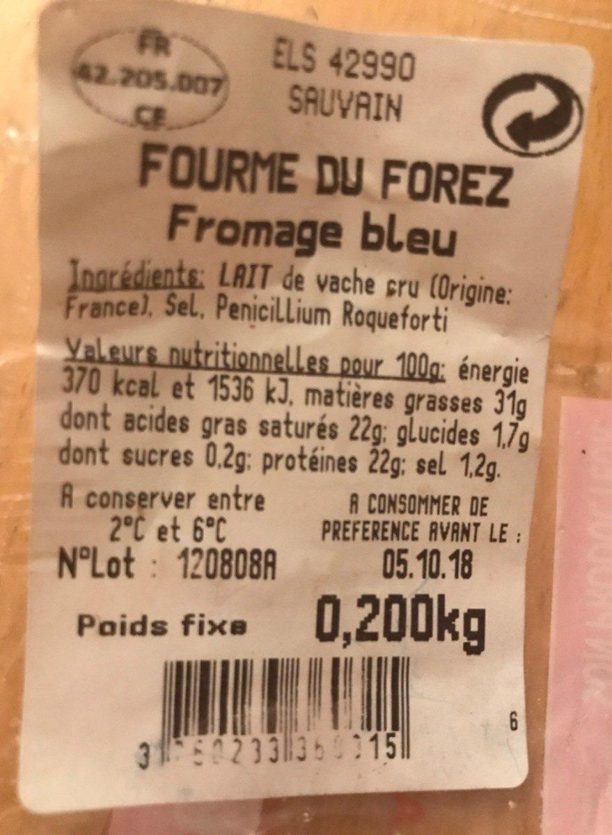 Fourme du Forez C'est qui le Patron ?! - Ingredients