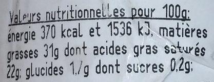 Fourme du Forez C'est qui le Patron ?! - Nutrition facts
