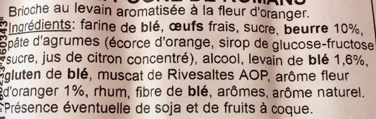 Pogne au levain - Ingrediënten