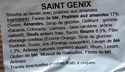 Brioche St Genix - Ingredients