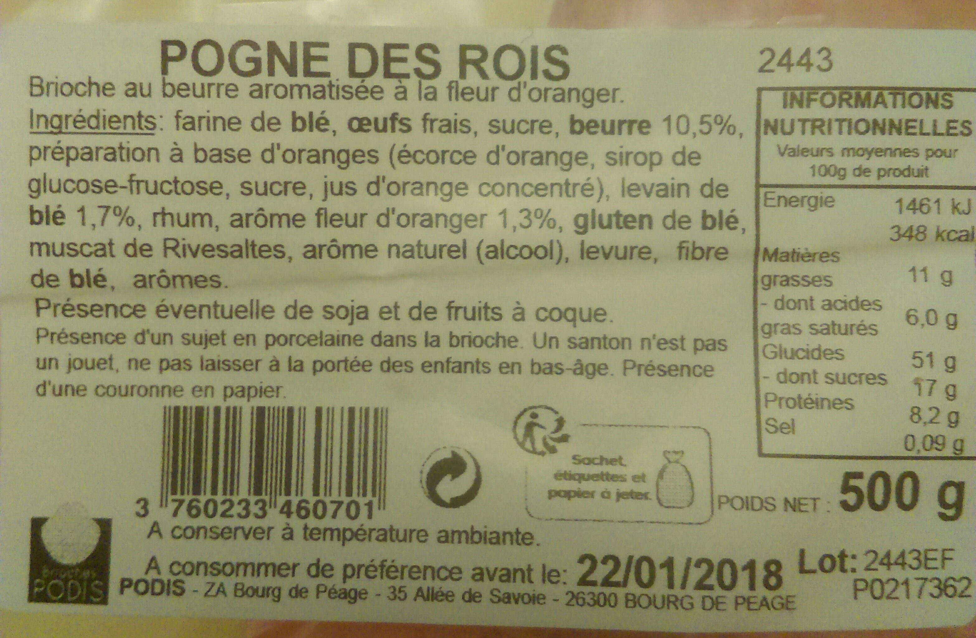 Pogne des rois - Ingrediënten