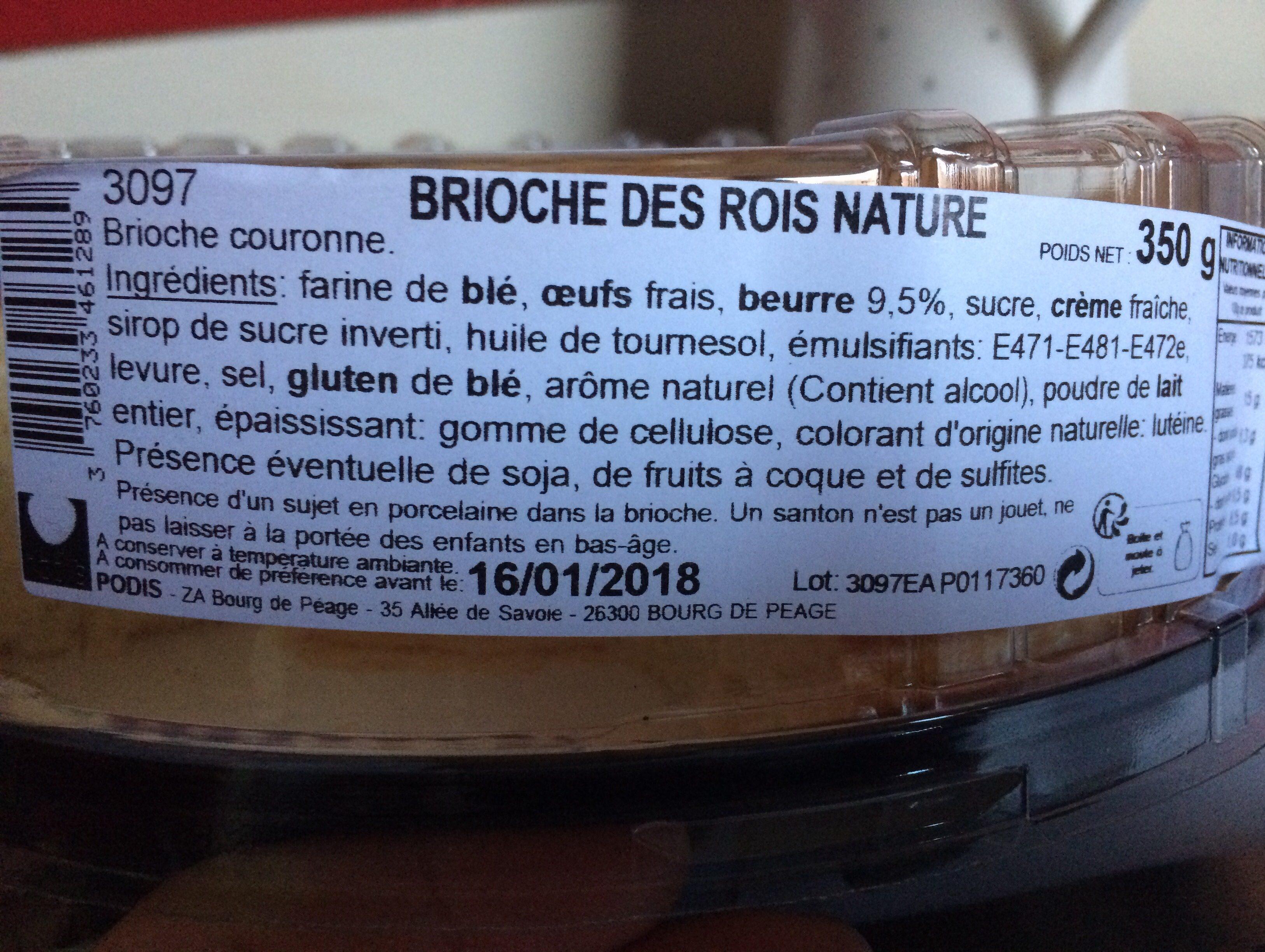 Brioche des Rois nature - Ingrediënten - fr