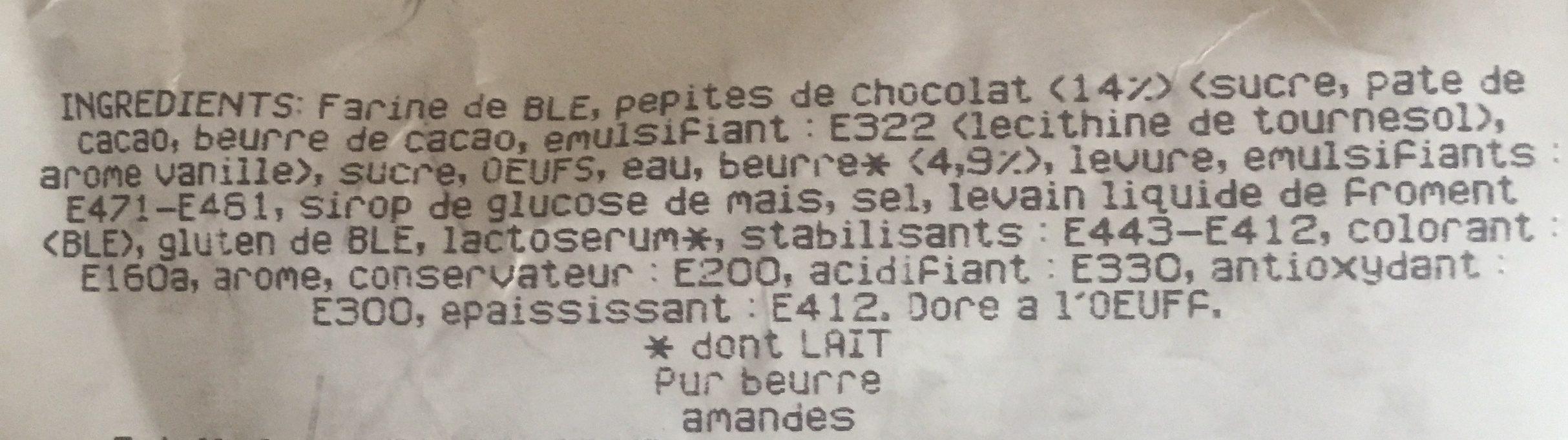 Cuit sur place Brioche de Nanterre pur beurre la pièce de 400 g - Ingredients - fr