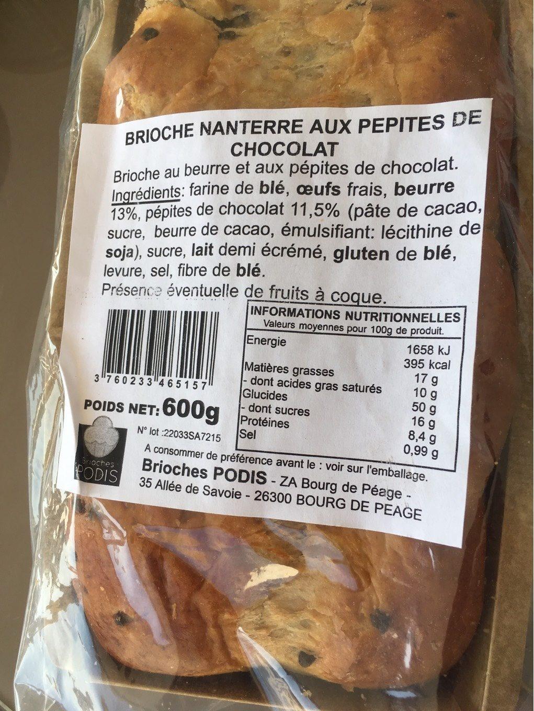 Brioche aux pépites de chocolat - Product - fr