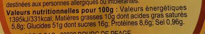 Couronne des Rois Parfum Fleur d'Oranger - Voedingswaarden - fr