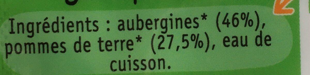 Galets surgelées de purée d'aubergine bio - Ingrédients - fr