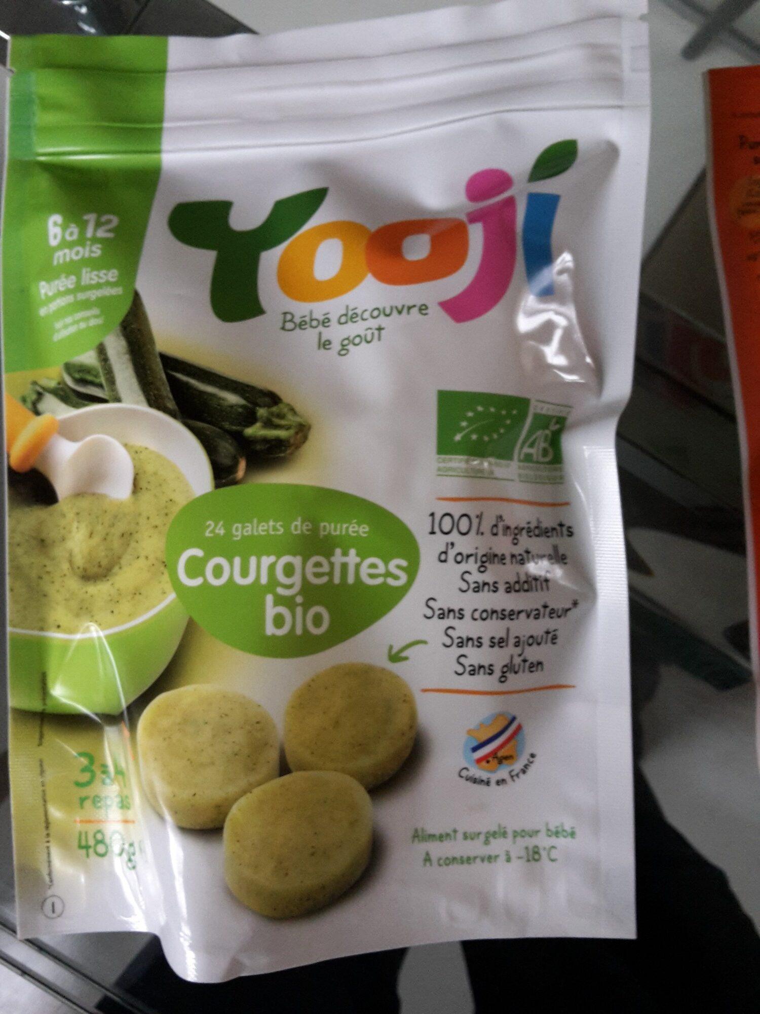 Yooji - 24 galets de purée courgettes bio - Produit - fr
