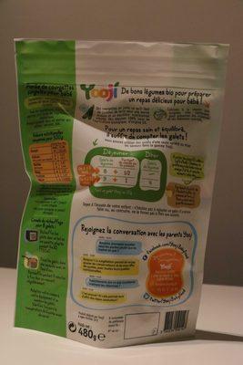 Yooji - 24 galets de purée courgettes bio - Nutrition facts