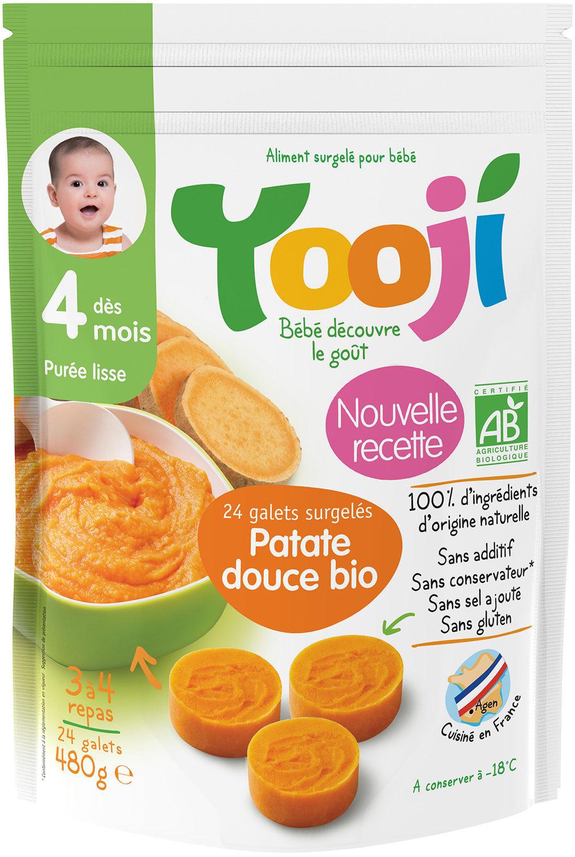 Yooji Purée bio surgelée dès 4 mois / Patate douce - Produit