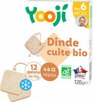 Hachés de dinde bio cuite et surgelée pour bébé dès 6 mois - Produit - fr