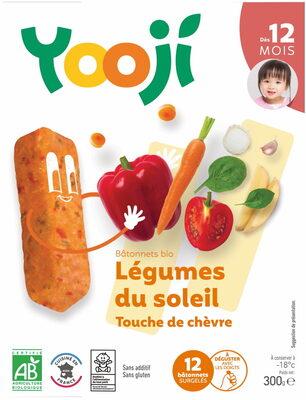 Bâtonnets surgelés bio jardinière de légumes, touche de chèvre pour bébé dès 12 mois - Produit - fr