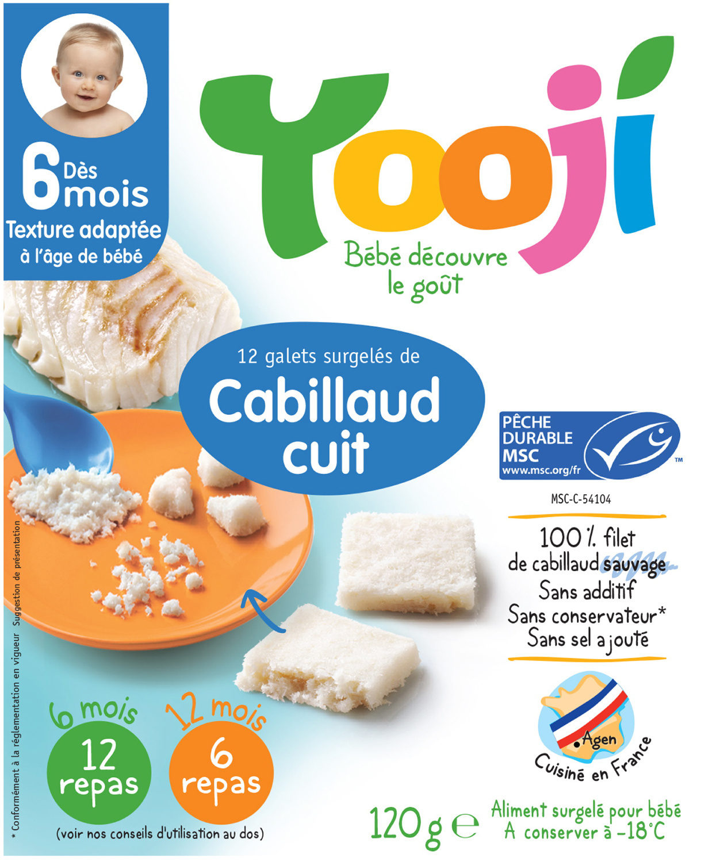 Yooji Cabillaud MSC surgelé dès 6 mois - Produit