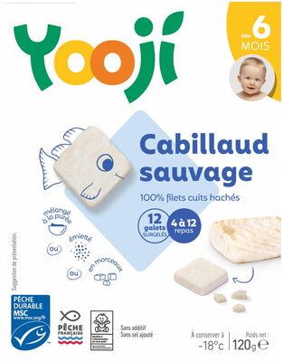 Hachés de cabillaud sauvage cuit et surgelé pour bébé dès 6 mois - Product