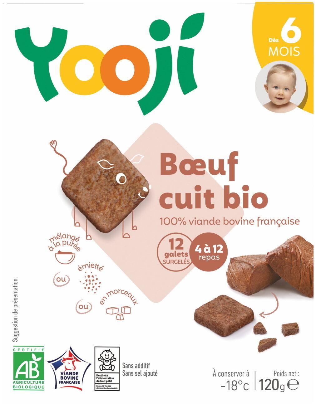 Hachés de boeuf bio cuit et surgelé pour bébé dès 6 mois - Produit