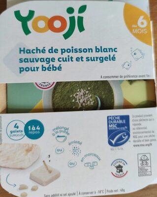 Haché de poisson blanc sauvage cuit et surgelé pour bébé - Produit