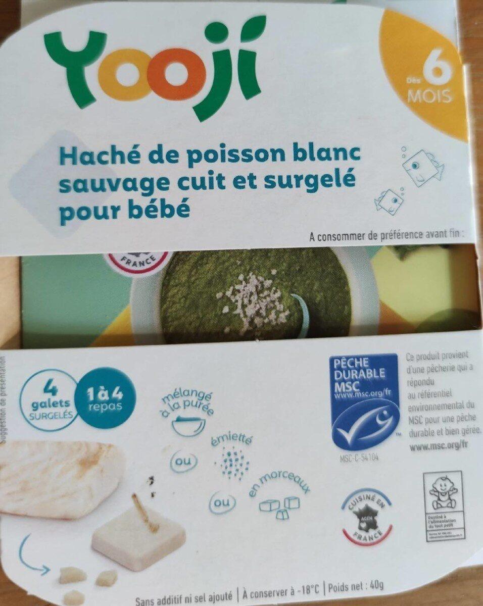 Haché de poisson blanc sauvage cuit et surgelé pour bébé - Produit - fr