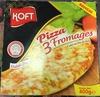 Pizza 3 fromages cuite au feu de bois - Product