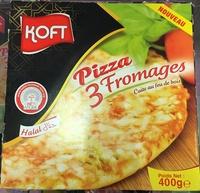 Pizza 3 fromages cuite au feu de bois - Produit - fr