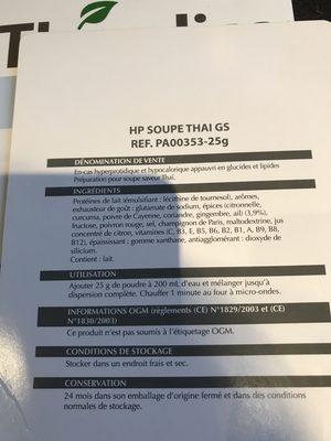 Theralica Minceur - Soupe Thaï 7 Sachets - Theralica - Ingrédients - fr