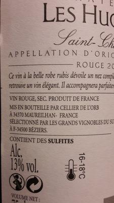 Châtea Les Hugues Saint-Chinian - Ingredients - fr