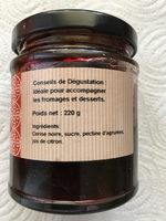 Confiture Cerise Noire - Ingrédients - fr