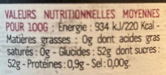 L'authentique Figue - Voedingswaarden - fr