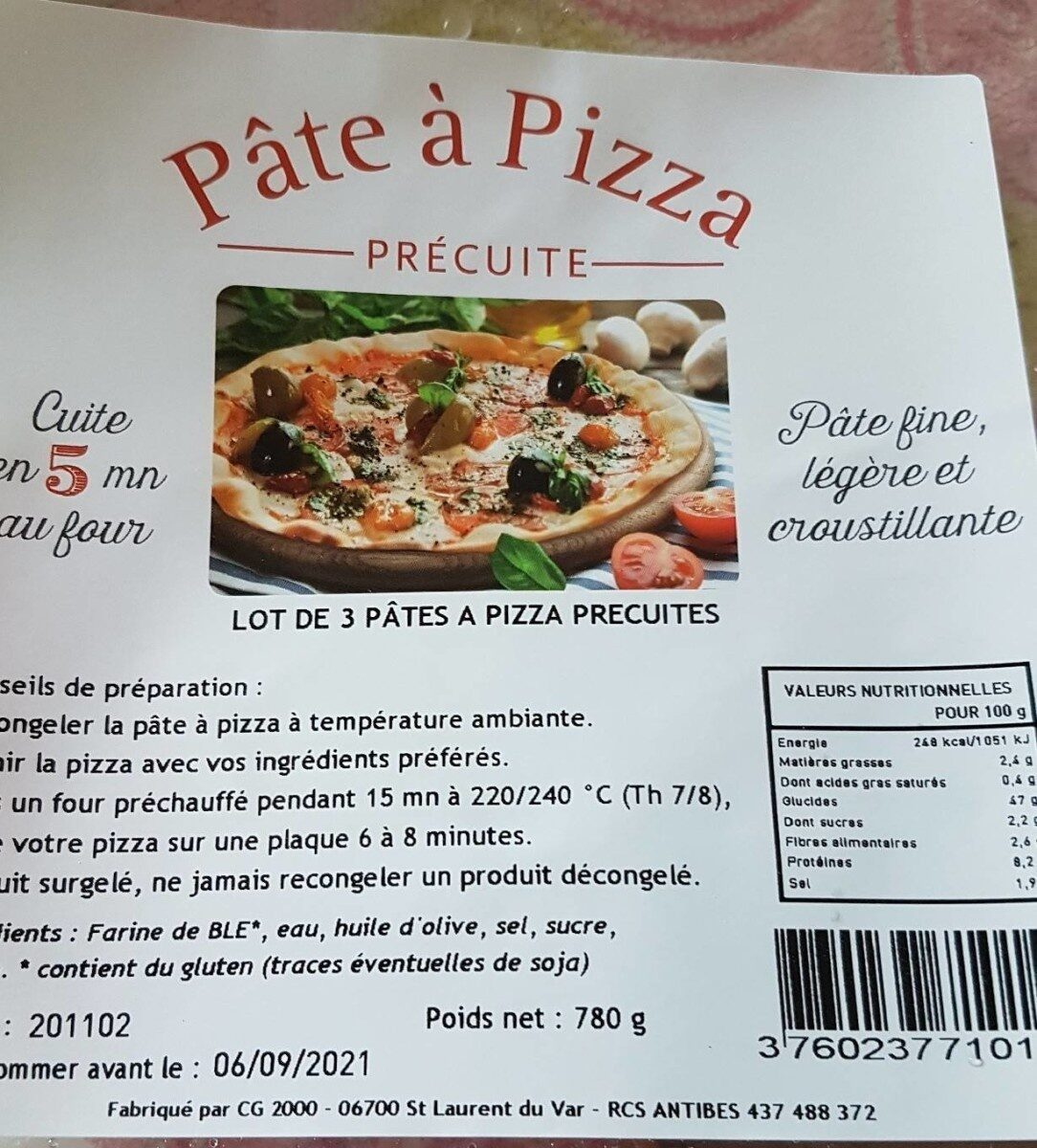 Pâte à  pizza precuite - Produit - fr
