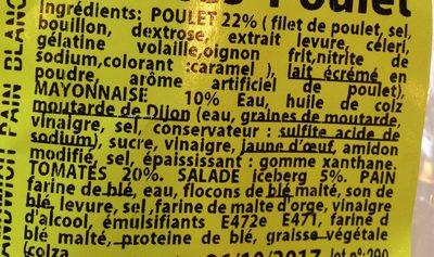 Créa frais - Ingrédients - fr