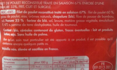 Crousty Nuggets - Ingredients