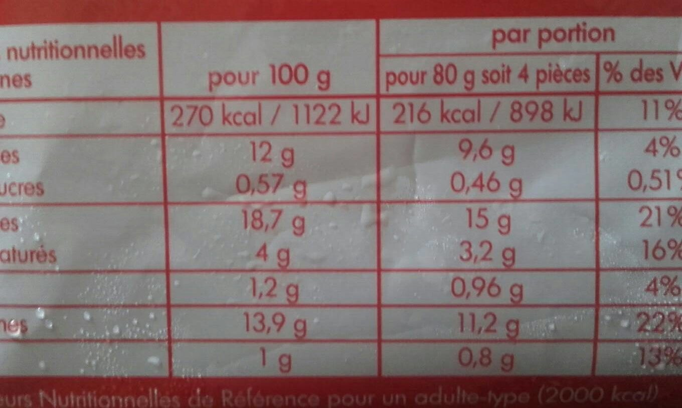 Crousty Nuggets - Nutrition facts