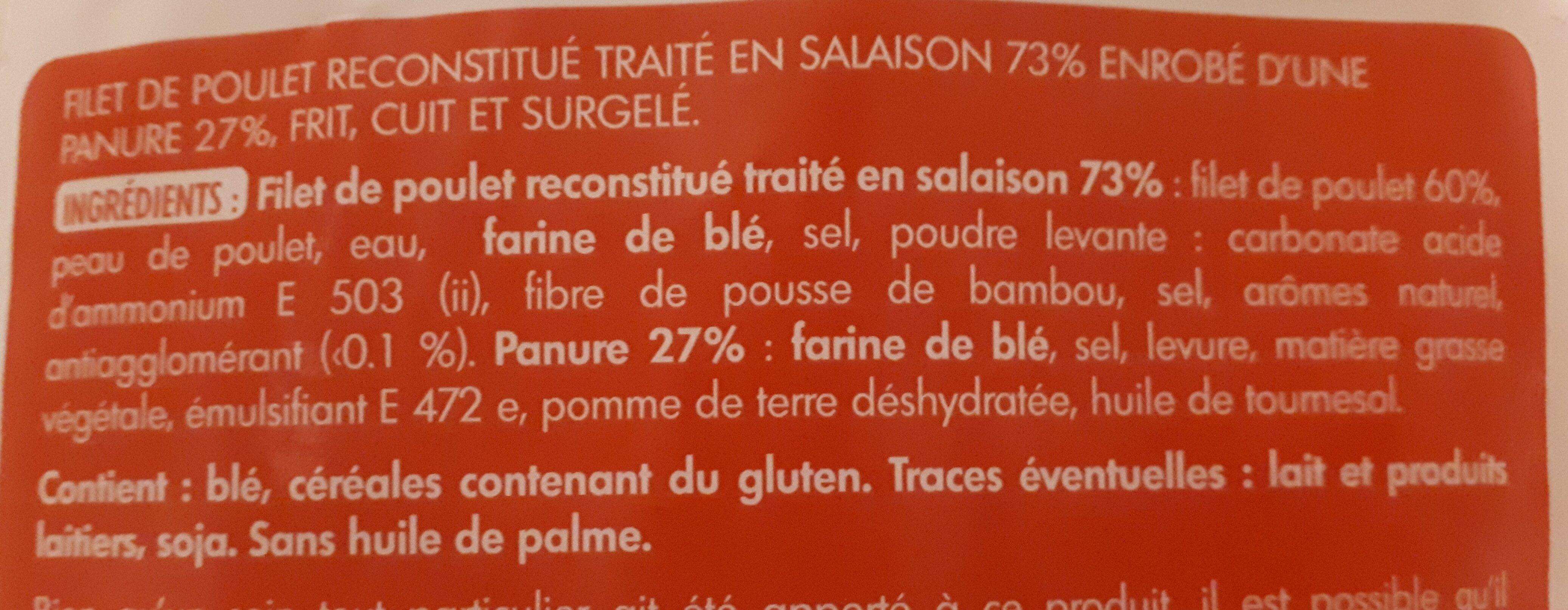 Escalopines panées - Ingrédients