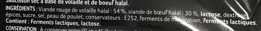 Le Gros Sec - Ingredients - fr