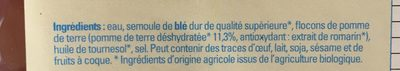 Gnochhi Frais - Ingrédients