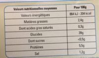 Gnochhi Frais - Informations nutritionnelles - fr