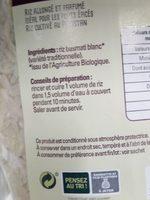 Riz basmati blanc - Ingredients - fr