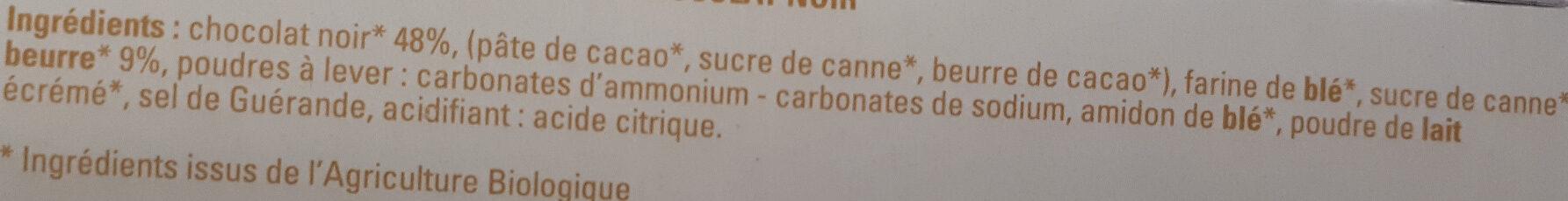 Petit beurre avec tablette de chocolat noir bio - Ingredients - fr