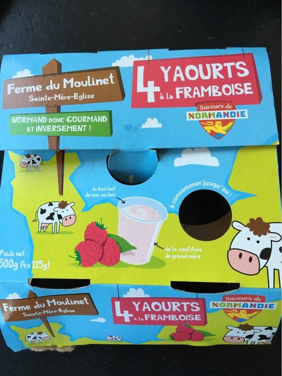 4 yaourt à la framboise - Product
