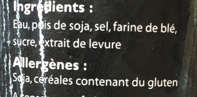 Sauce soja bio - Ingrédients - fr