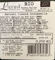 Ravioli tomate mozzarella - Ingredients