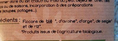 Flocons 5 céréales - Ingrédients - fr