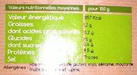 Riz de Camargue complet - Informations nutritionnelles - fr