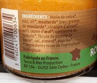 Rouille Bio - Ingrediënten - fr