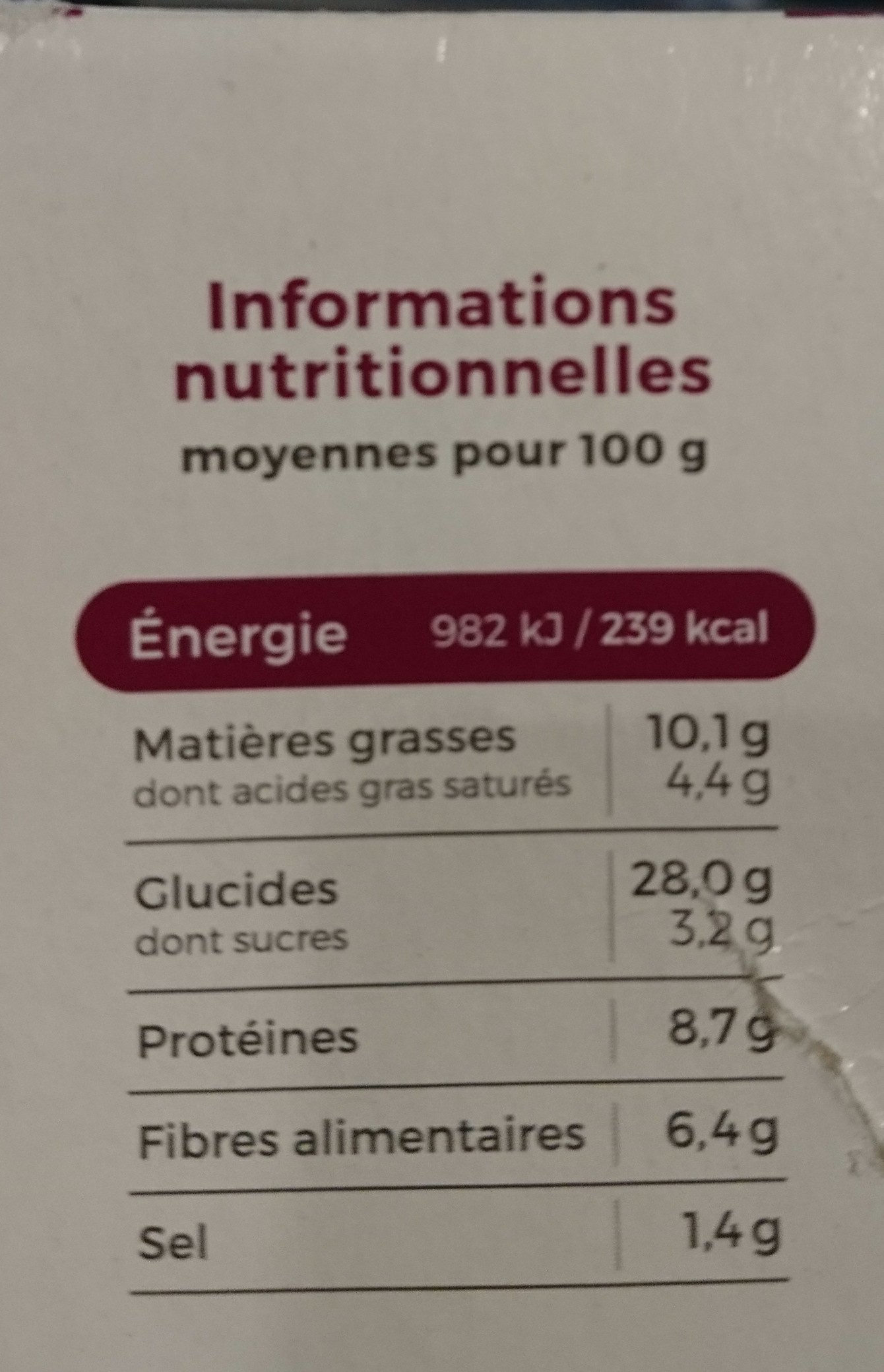Blé fumé comme un risotto, piperade basque - Nutrition facts