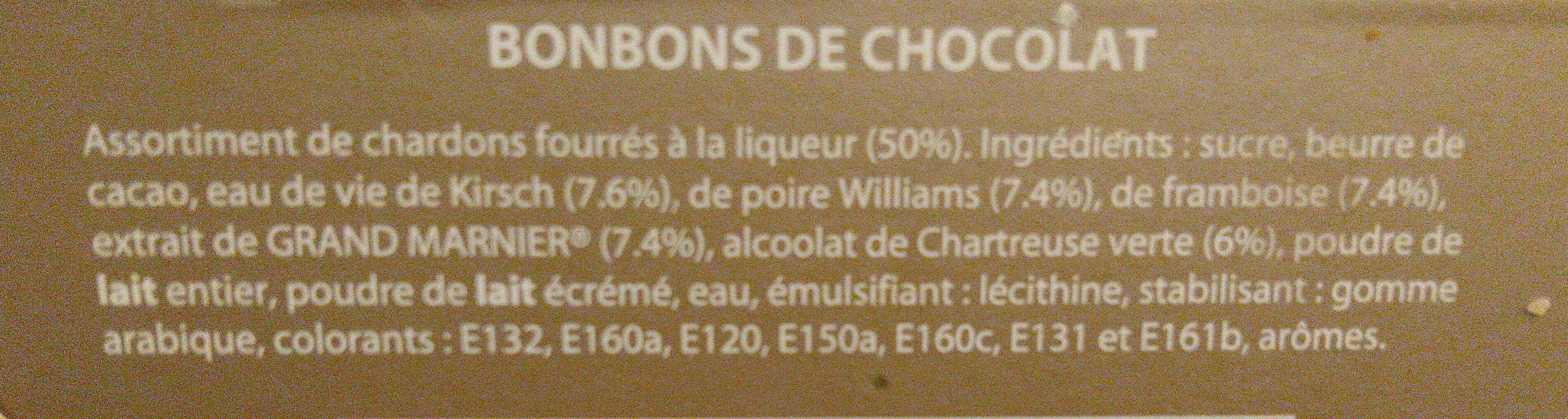 Chardons à la liqueur - Ingredients