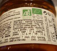 Crème fine bio de poivrons - Informations nutritionnelles