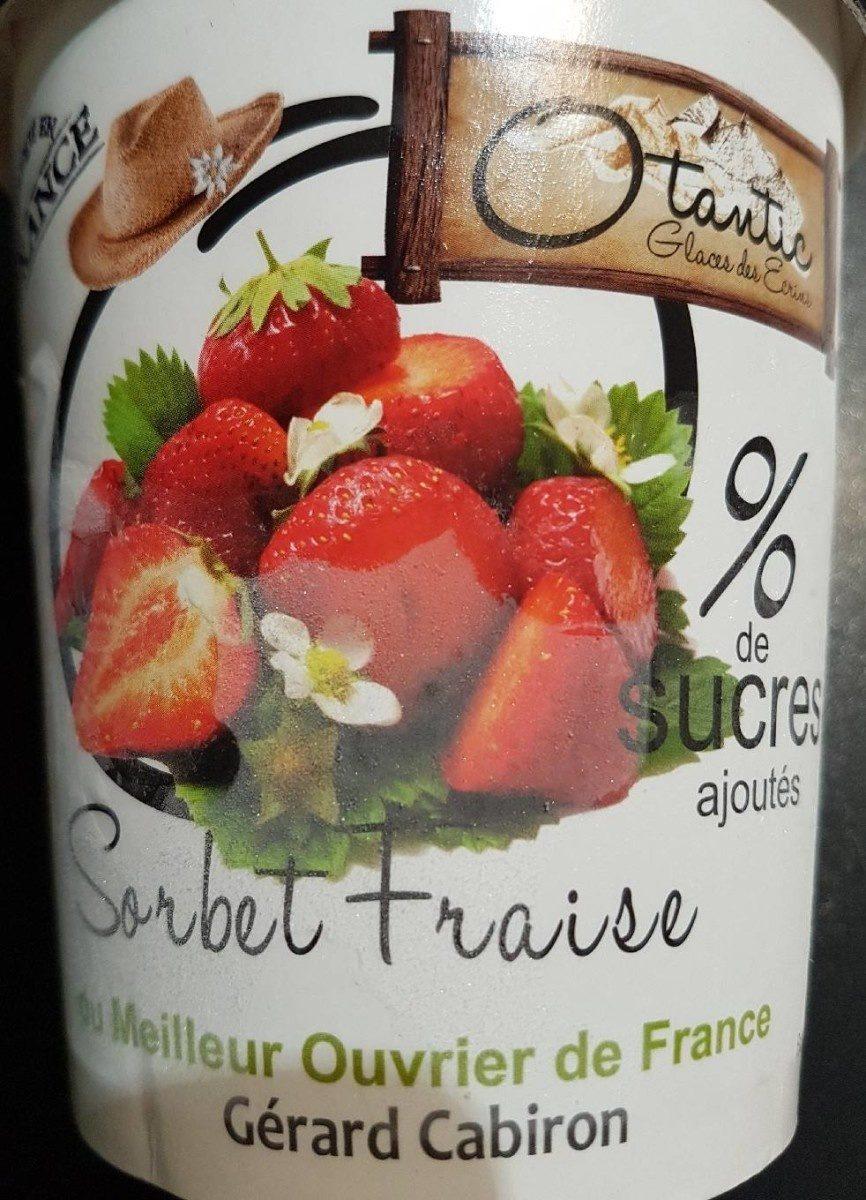 Sorbet fraise Gérard cabiron - Product