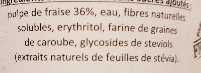 Sorbet fraise Gérard cabiron - Ingredients