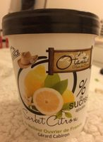 Sorbet citron 0% de sucres ajoutés - Product
